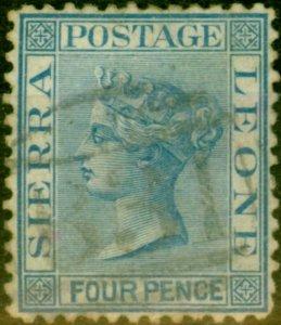 Sierra Leone 1873 4d Blue SG14 Good Used