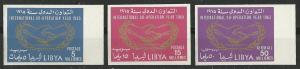 Libya #  267-68,C51  Cooperation Year -  imperf. (3) Mint NH