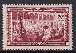 Monaco  #C21  MH   1949  birth centenary prince Albert I  20fr