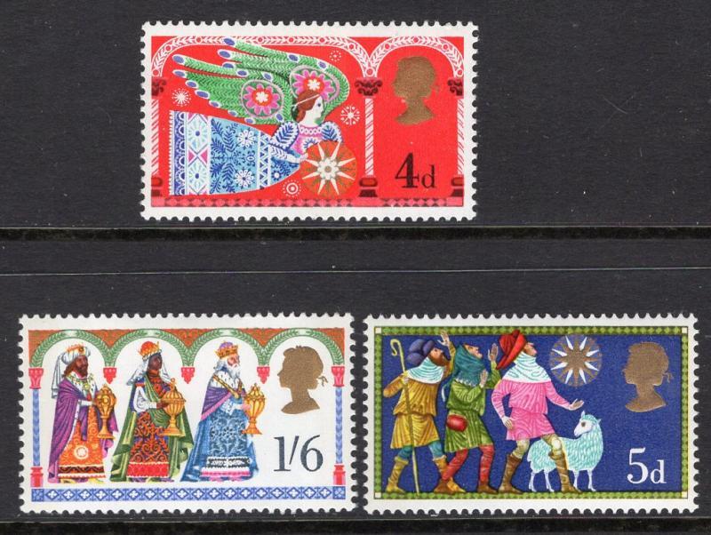 Great Britain 605-607 Christmas MNH VF