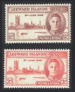 Leeward Is. World War II Victory 2v SG#115-116