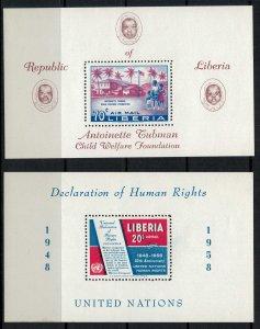 Liberia #C113,9* NH  CV $4.25  Souvenir sheets