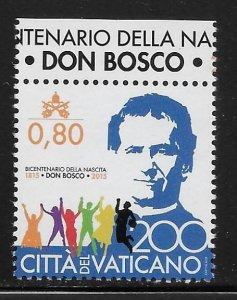 Vatican City 1589 St. John Bosco single MNH (lib)