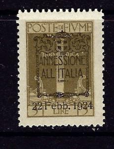 Fiume 206 MNH 1924 overprinted issue