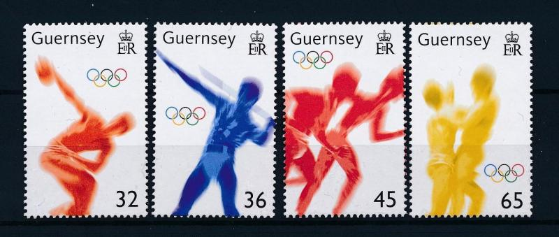 [54771] Guernsey 2004 Olympic games Athens Athletics Wrestling MNH