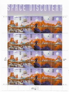 USA 3238-3242  MNH SHEETS SPACE DISCOVERY