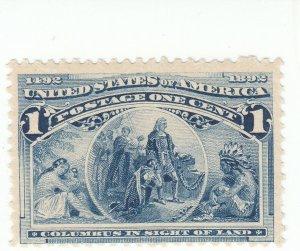 Scott # 230 - 1c Deep Blue - Mint Never Hinged - SCV - $40.00
