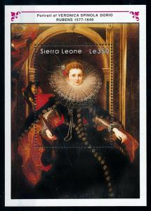 [100178] Sierra Leone 1990 Art Painting Rubens Veronica Spinola Dorio Sheet MNH