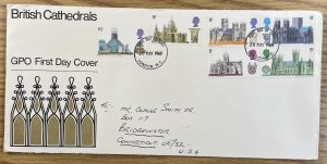 GB #589-594 Used F/VF GPO First Day Cover - Cathedrals 1969 [CVR199]