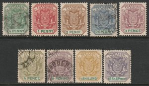 Transvaal Sc 166-174 complete set MH/used