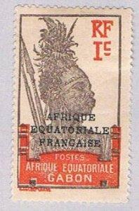 Gabon Warrior 1c - pickastamp (AP103614)