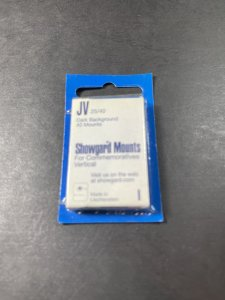 SHOWGUARD MOUNTS-JV---25 x 40---PRE-CUT--40 PACK--DARK BACKGROUND--NEW-OLD STOCK