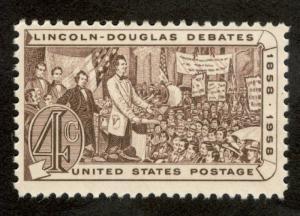 1115 Abraham Lincoln Single Mint/nh (Free Shipping)