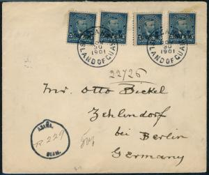 GUAM #5 (4) ON COVER GOING TO GERMANY HV4395