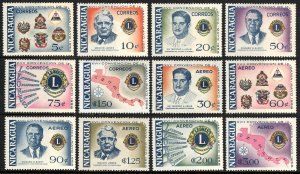 Nicaragua 800-805,C410-C415,MNH.Convention of Lions Intl.of Central America,1958