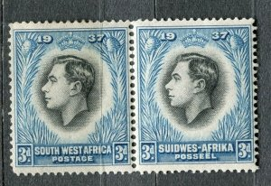SOUTH WEST AFRICA; 1930s early pictorial issue fine Mint hinged 3d. Pair