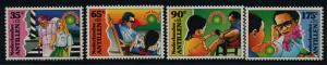 Netherlands Antilles B309-12 MNH Child Welfare, Flowers