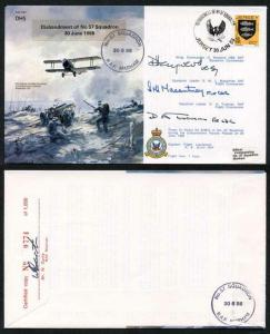 B10c Disbandment of No.57 Squadron Crew Signed (AZ)