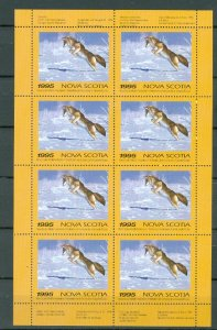 NOVA SCOTIA  1995 COYOTE CONSERVATION  #NSW4f SHEET of 8 MNH...$150.00