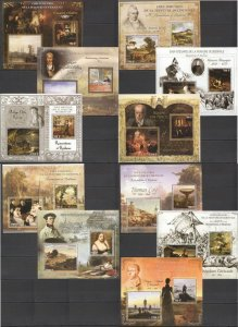 PE 2013 IVORY COAST ART GREAT PAINTERS & PAINTINGS ROMANTISM & REALISM 11BL MNH