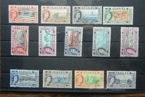 Bahamas 1954 - 63 values to £1 Used