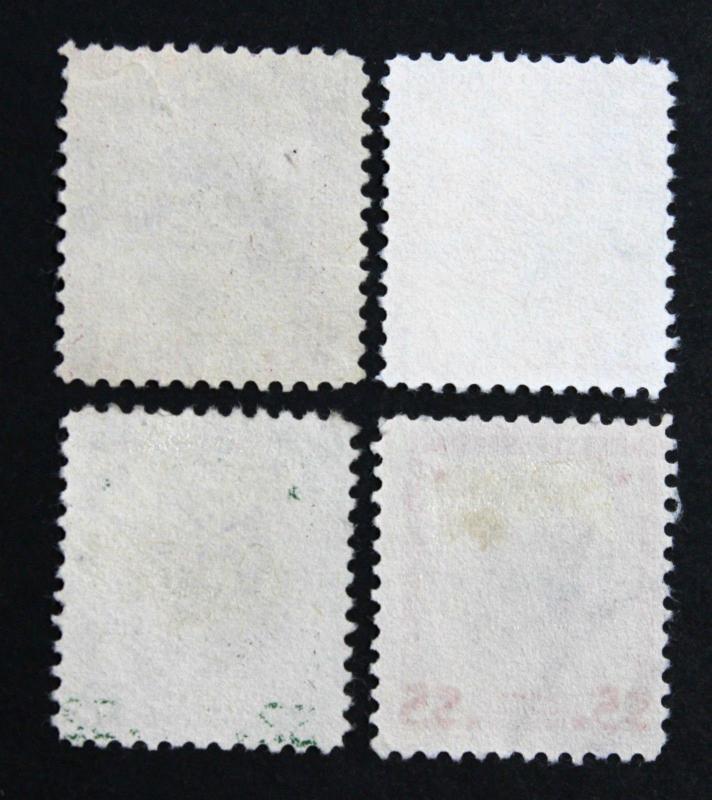 U.S. Stamps Sc# 832,833,834 & 832g 1938 Presidential Vignette Shift Set