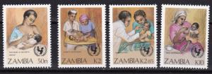 1988 Zambia Scott 440-443 UN Child Survival Campaign MNH