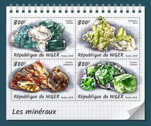 Z08 IMPERF NIG18317a Niger 2018 Minerals MNH ** Postfrisch