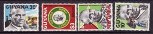 Guyana-Sc#306-9-unused NH set-Labour Union anniversary-1979-