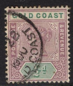 GOLD COAST SG26 1898 ½d DULL MAUVE & GREEN FINE USED