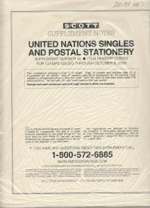 Scott United Nations Singles & Postal Stationery Supplement #45 Through 2009