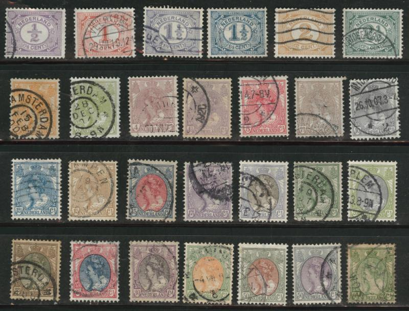Netherlands Scott 55-82 complete Queen Wilhelmina set CV$35
