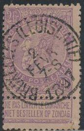 Belgium 74 Used - King Leopold II - Socked on the Nose