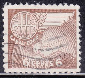 Canal Zone C22 USED 1951 Globe and Wing