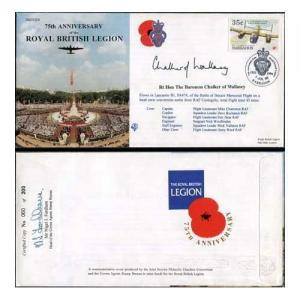 JS(CC)14f 75th Anniv of the Royal British Legion Signed by Baroness Chalker