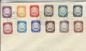 1940, Riga, Latvia, Sc #2N45-2N57 on Philatelic Cover (30984)