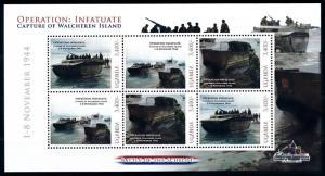 [91884] Uganda  World War 2 Operation Infatuate Walcheren Sheet MNH