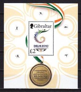 Gibraltar, Scott cat. 1251. Commonwealth Games s/sheet. ^