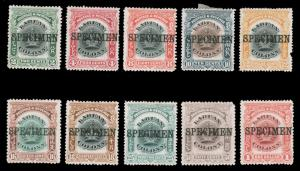 LABUAN 1902-1903 CROWN SPECIMEN SET MINT #100 101-109 all with h.r round corn...