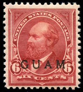 momen: Guam Stamps #6 Duck Mint OG VF