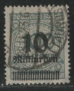 Germany Reich Scott # 316, used, exp h/s