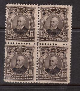 USA #308 NH Mint Block