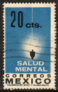 MEXICO 924, Importance of Mental Health. USED. F-VF. (1047)