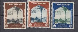 J27915 1934 italy tripolitania part of set mh, #74,77-8 native village