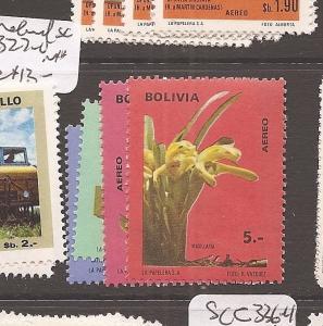 Bolivia A/M Orchid SC C327-0 MNH (10cel)