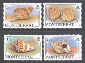 Montserrat Scott 681/684 - SG757/760, 1988 Shells 5c - 20c MNH**