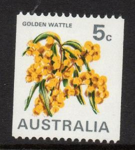 AUSTRALIA SG467 1970 5c COIL STAMP MNH