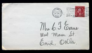 US Stamp Sc# 634 on Cover with Western Union WU Perfin