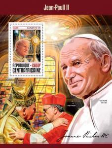 CENTRAFRICAINE 2016 SHEET POPES JOHN PAUL RELIGION