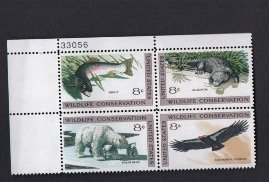 Scott# 1427-1430 plate block of 4  OG  MNH
